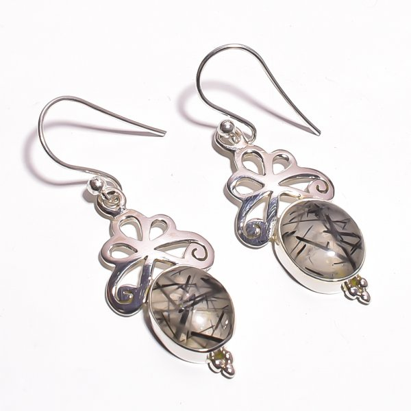 Rutile Gemstone 925 Sterling Silver Earrings