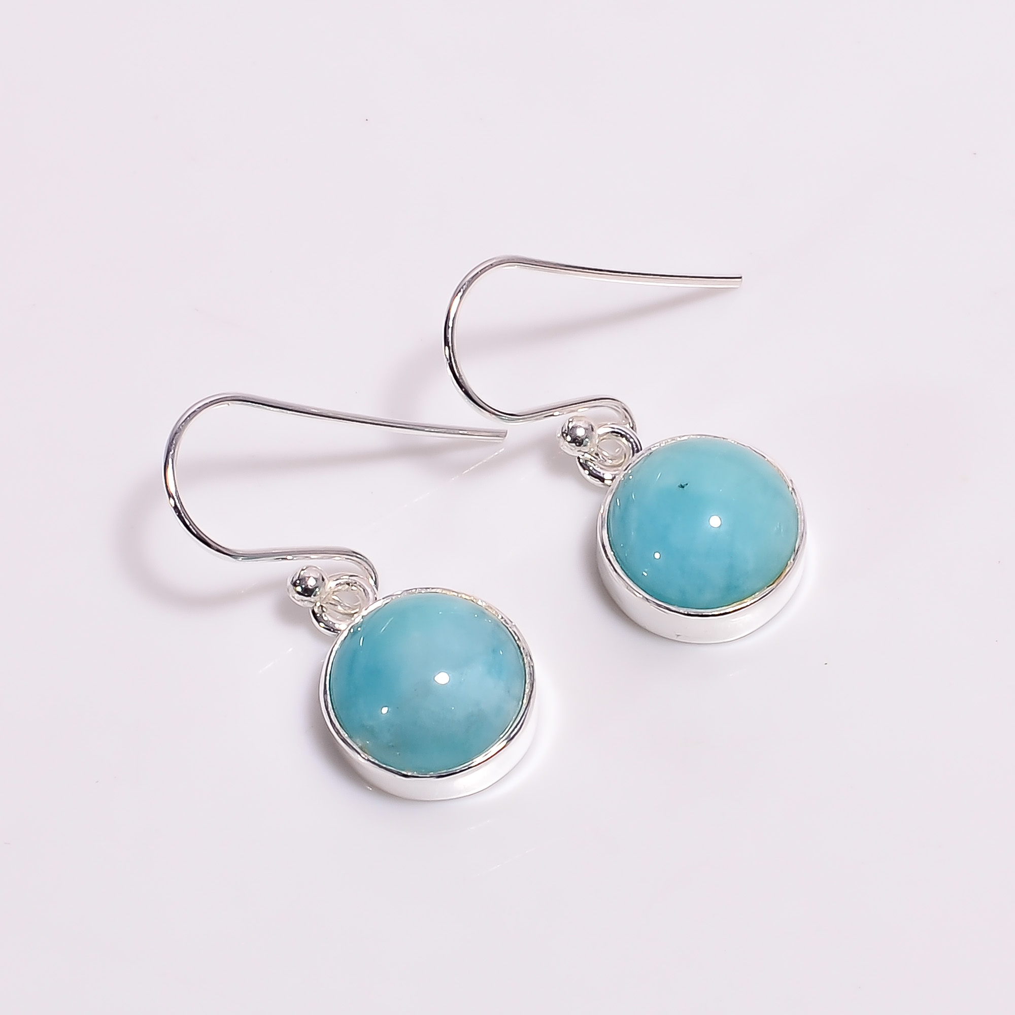Amazonite Gemstone 925 Sterling Silver Earrings