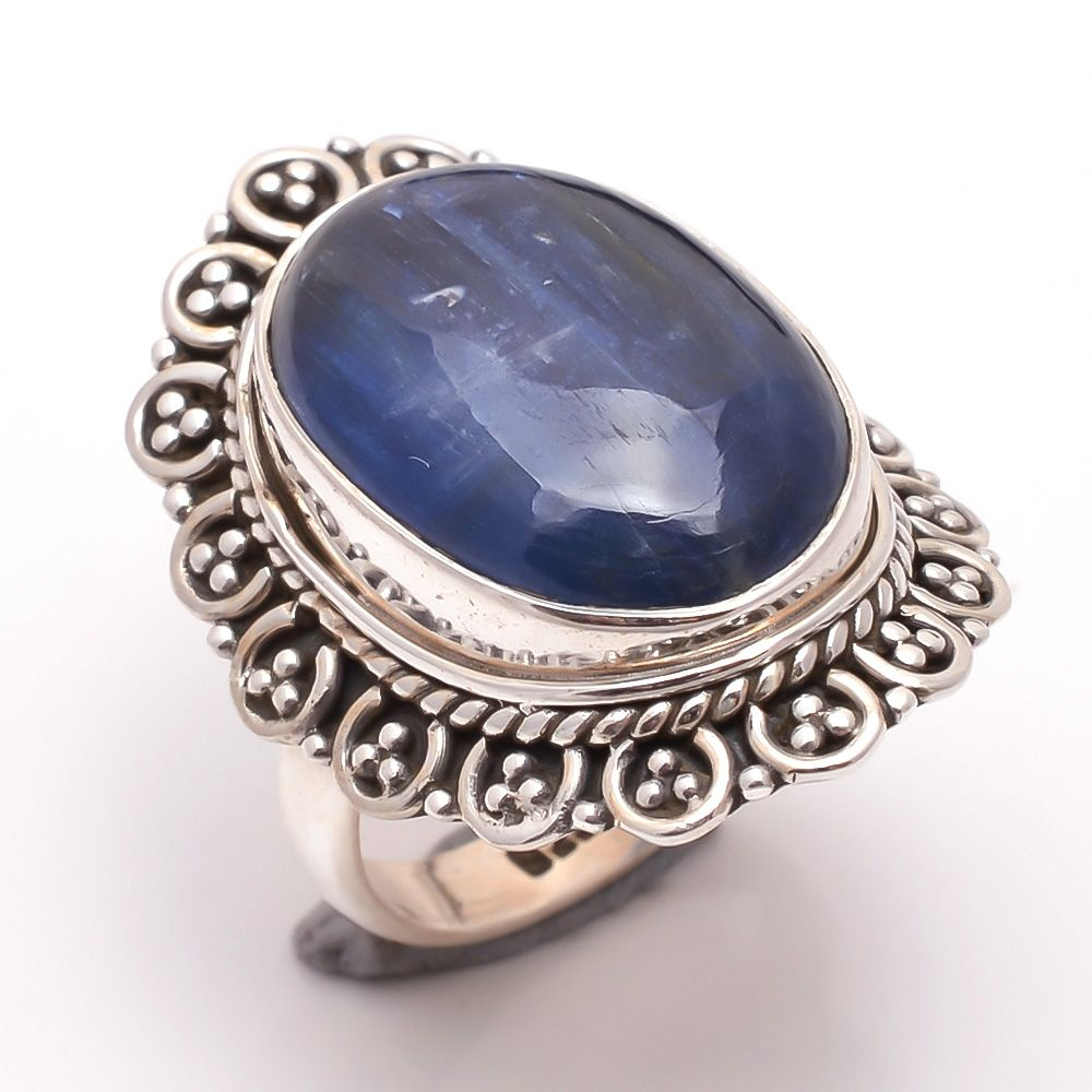 Kyanite Gemstone 925 Sterling Silver Ring Size 6.5