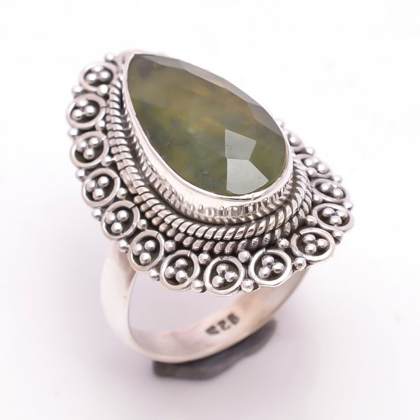 Vasonite Gemstone 925 Sterling Silver Ring Size 8