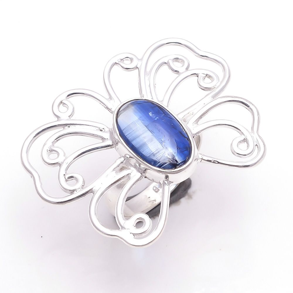 Kyanite Gemstone 925 Sterling Silver Ring Size 6