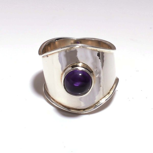 Amethyst Gemstone 925 Sterling Silver Ring Size US 7.5