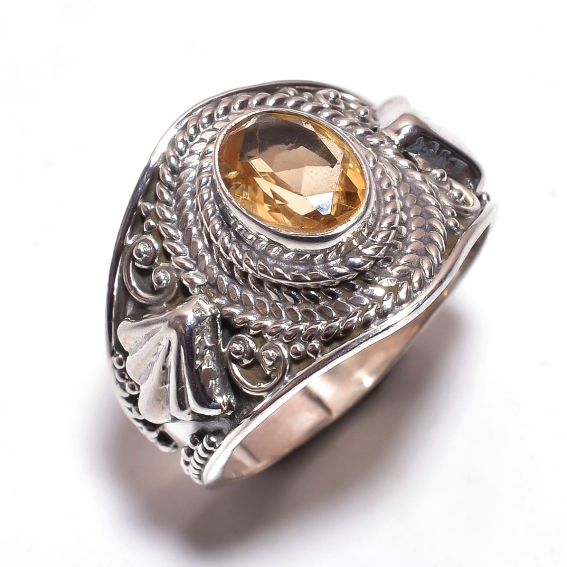 Citrine Gemstone 925 Sterling Silver Ring