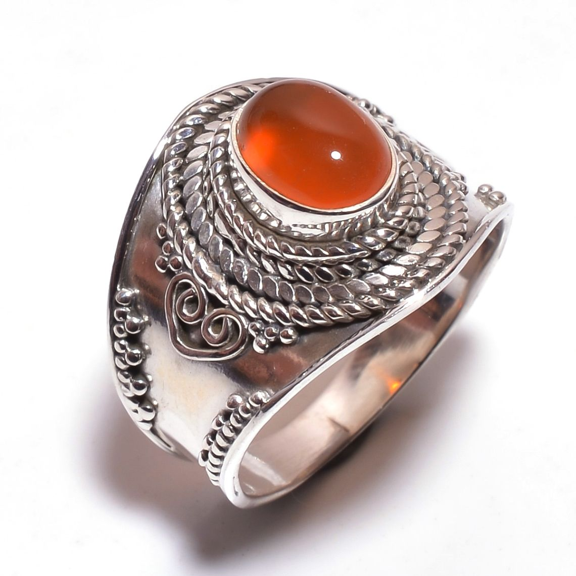 Carnelian Gemstone 925 Sterling Silver Ring