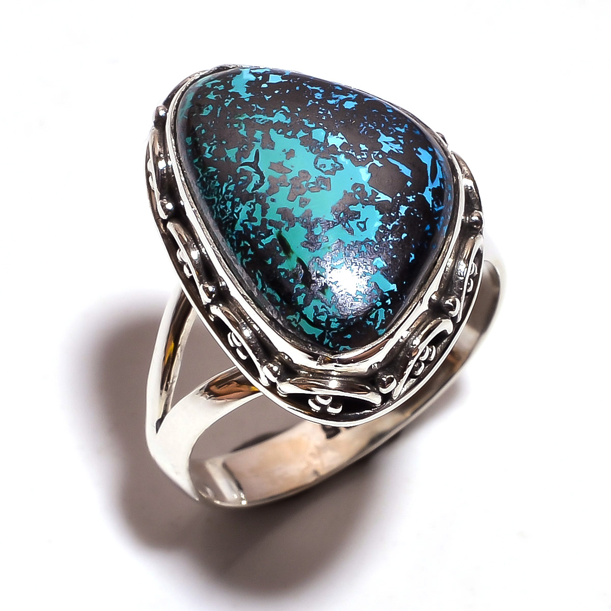 Turquoise Gemstone 925 Sterling Silver Ring Size 8