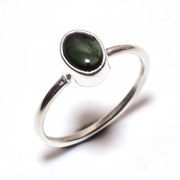 Tourmaline Gemstone 925 Sterling Silver Ring Size 6