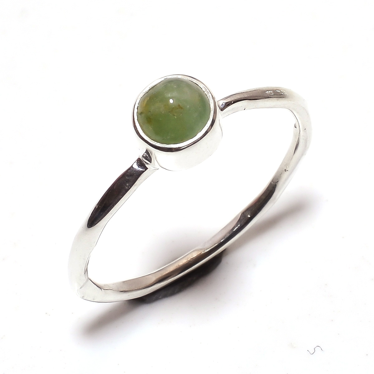 Tourmaline Gemstone 925 Sterling Silver Ring Size 8.25
