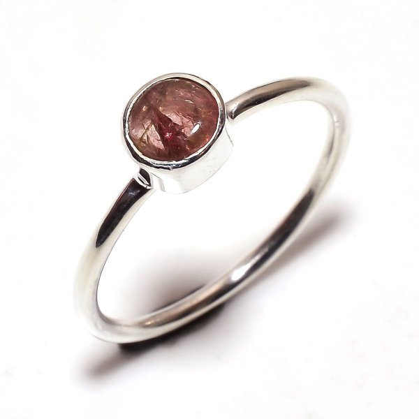 Tourmaline Gemstone 925 Sterling Silver Ring Size 7