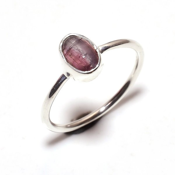 Tourmaline Gemstone 925 Sterling Silver Ring Size 7.25