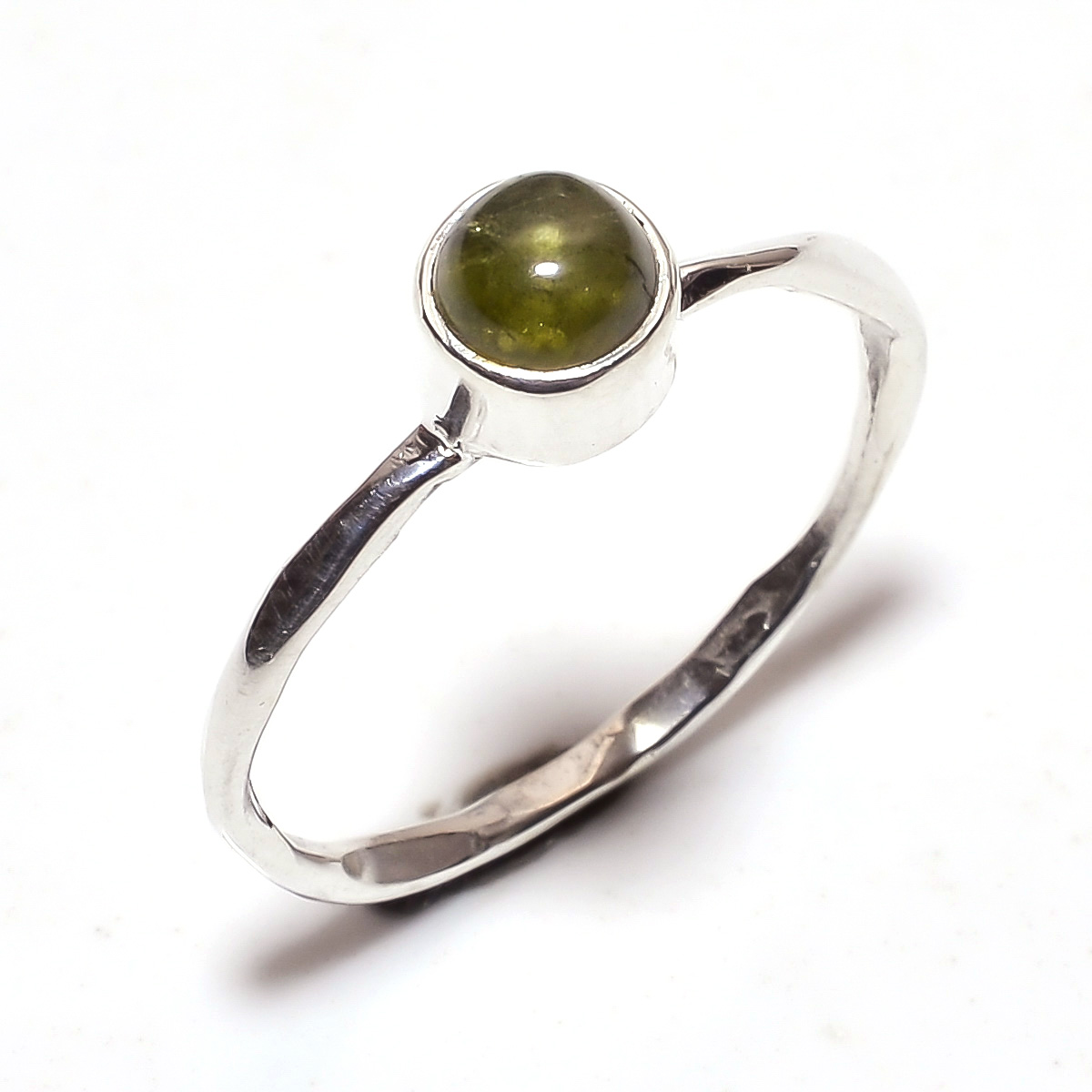 Tourmaline Gemstone 925 Sterling Silver Ring Size 8
