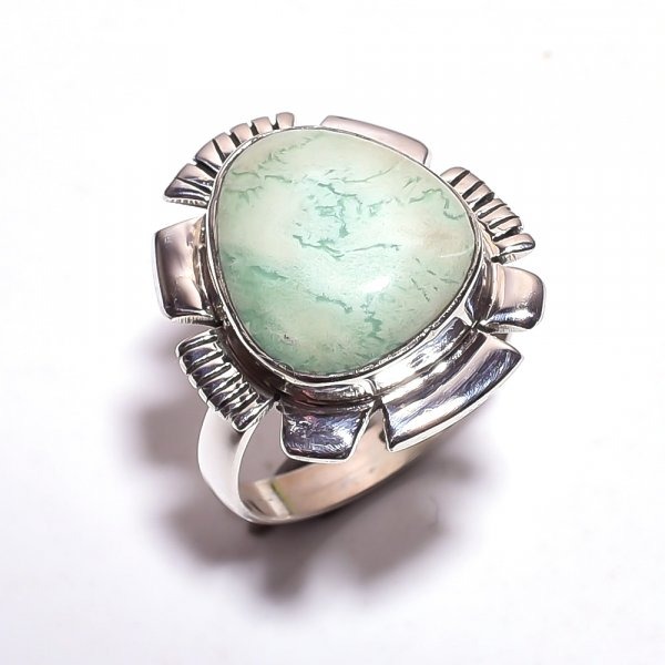 Varisite Gemstone 925 Sterling Silver Ring Size 7.75