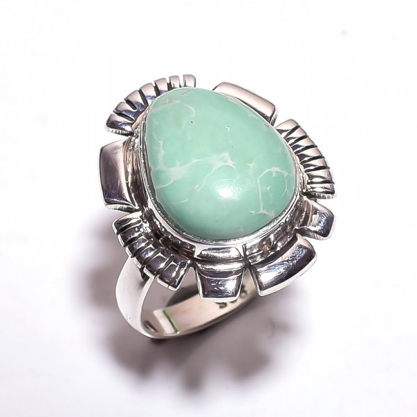 Varisite Gemstone 925 Sterling Silver Ring Size 8