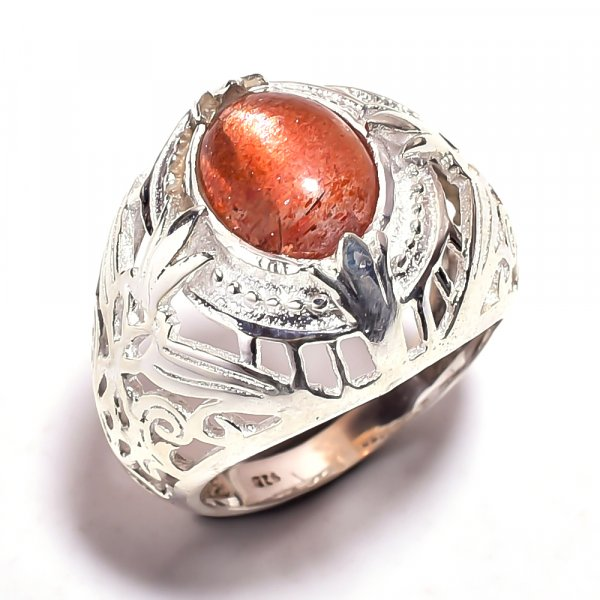 Sunstone 925 Sterling Silver Ring