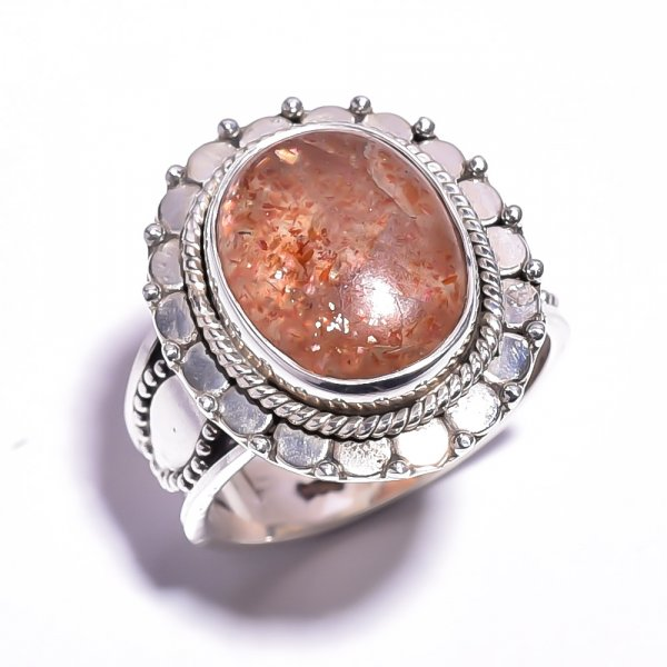Sunstone 925 Sterling Silver Ring Size 6.75