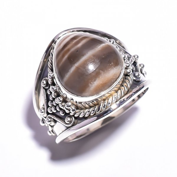 Jasper Gemstone 925 Sterling Silver Ring Size 6.25