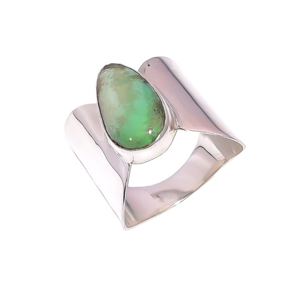 Variscite Gemstone 925 Sterling Silver Ring Size US 9.75