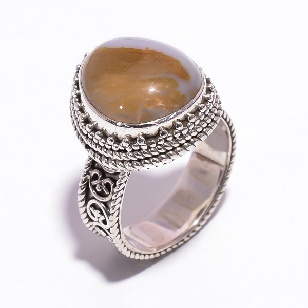 Youngite Gemstone 925 Sterling Silver Ring Size US 6
