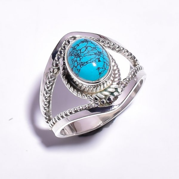Turquoise Gemstone 925 Sterling Silver Ring