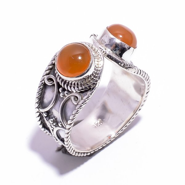 337bf8c58 Carnelian Gemstone 925 Sterling Silver Ring Size US 5.75 Adjustable
