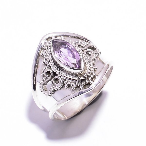 Amethyst Gemstone 925 Sterling Silver Ring US 7.5