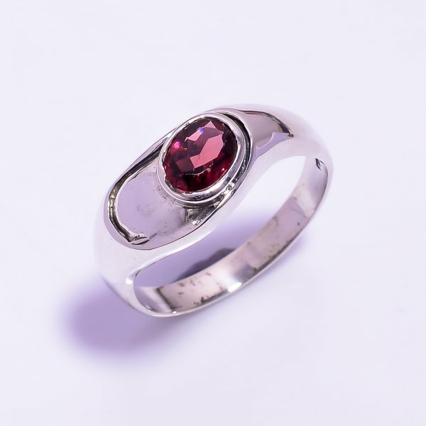 Rhodolite Garnet Gemstone 925 Sterling Silver Ring