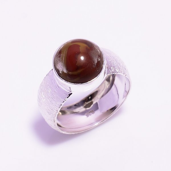 Noreena Jasper Gemstone 925 Sterling Silver Ring Size US 6.5