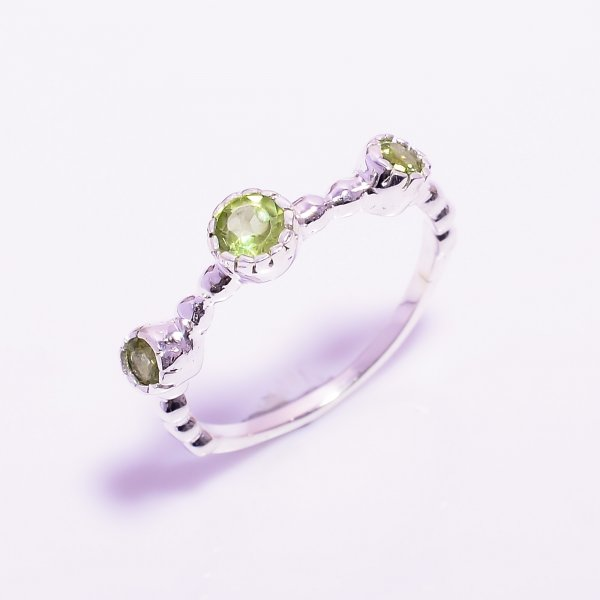 Peridot Gemstone 925 Sterling Silver Ring