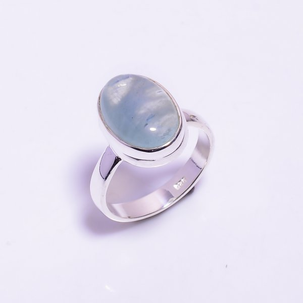 Aquamarine Gemstone 925 Sterling Silver Ring
