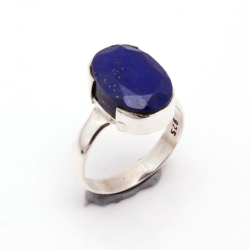 Lapis Gemstone 925 Sterling Silver Ring Size 7