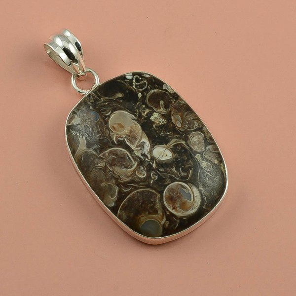 Turtella Gemstone 925 Sterling Silver Pendant