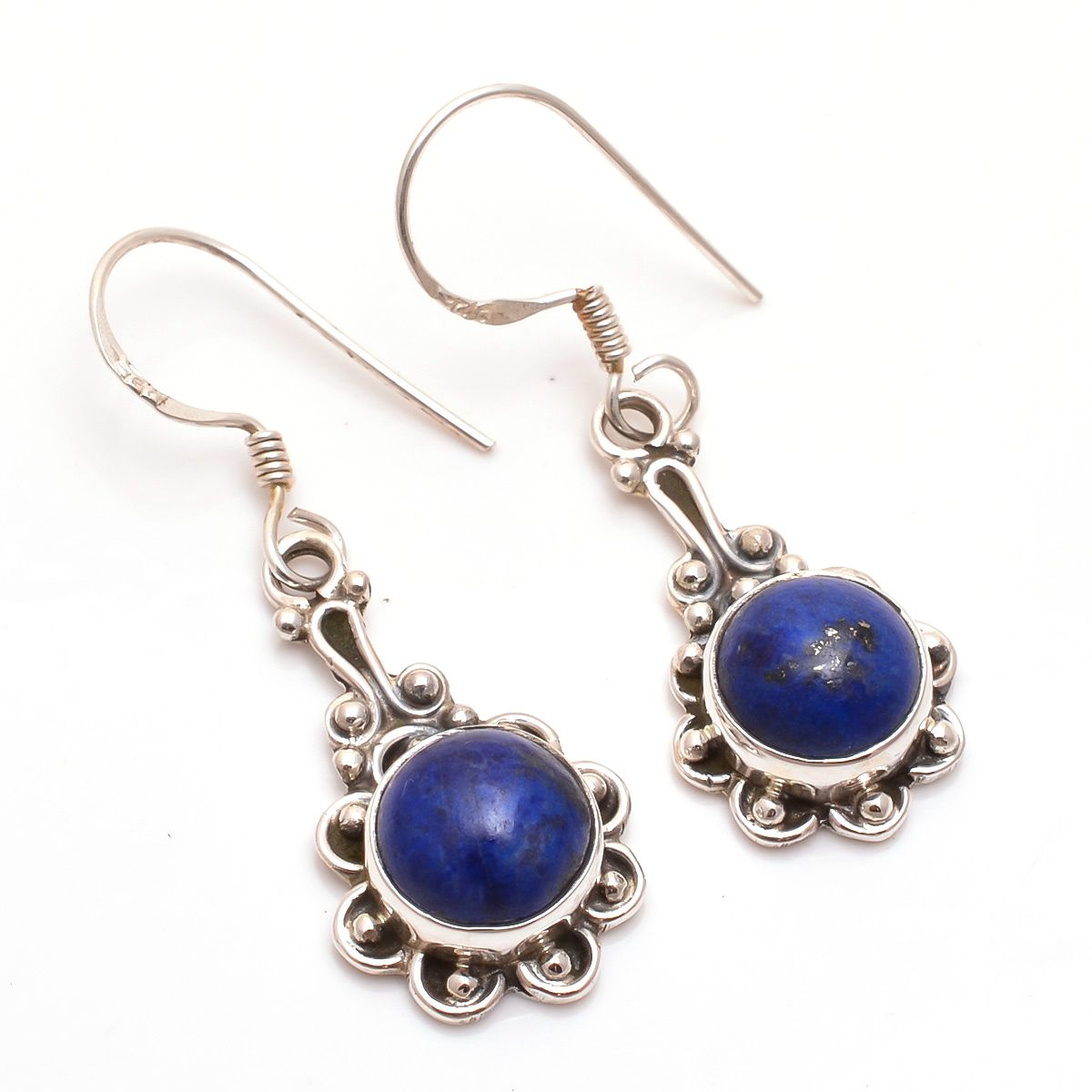 Lapis Gemstone 925 Sterling Silver Earrings