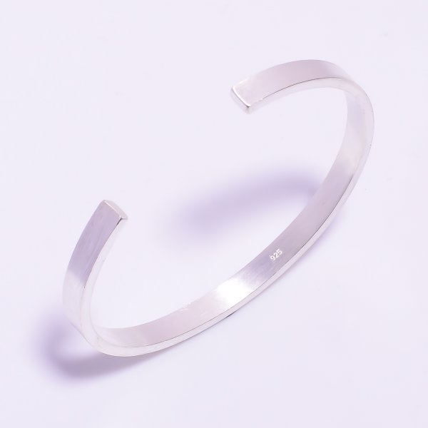 925 Sterling Silver Designer Fine Adjustable Bangle