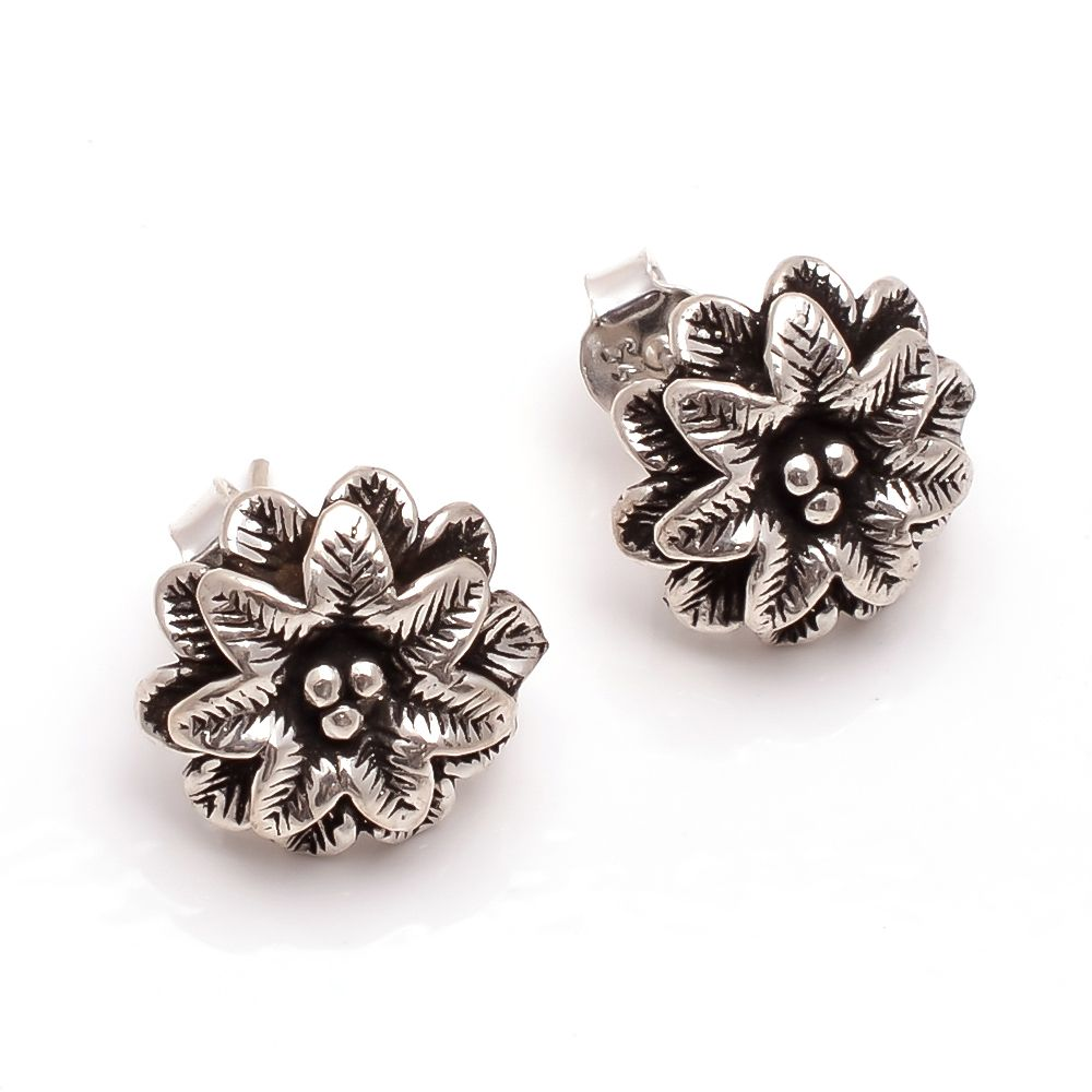 925 Sterling Silver Designer Fine Stud Earrings