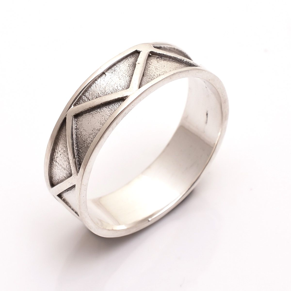 925 Sterling Silver Designer Thumb Ring Size 12