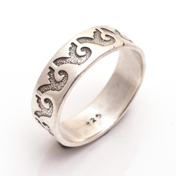 925 Sterling Silver Designer Thumb Ring Size 11.5