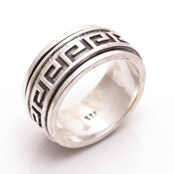 925 Sterling Silver Spinner Thumb Ring Size 12.5