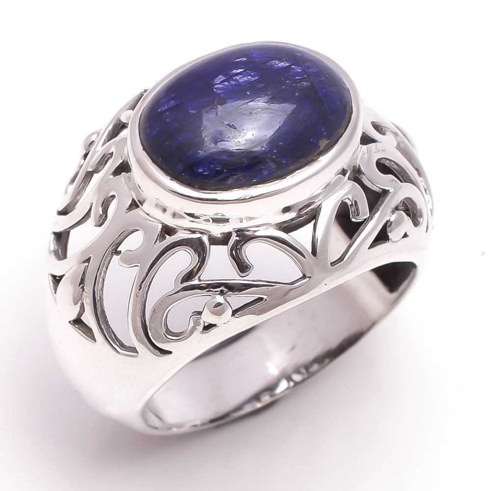 Lapis Gemstone 925 Sterling Silver Ring Size 12