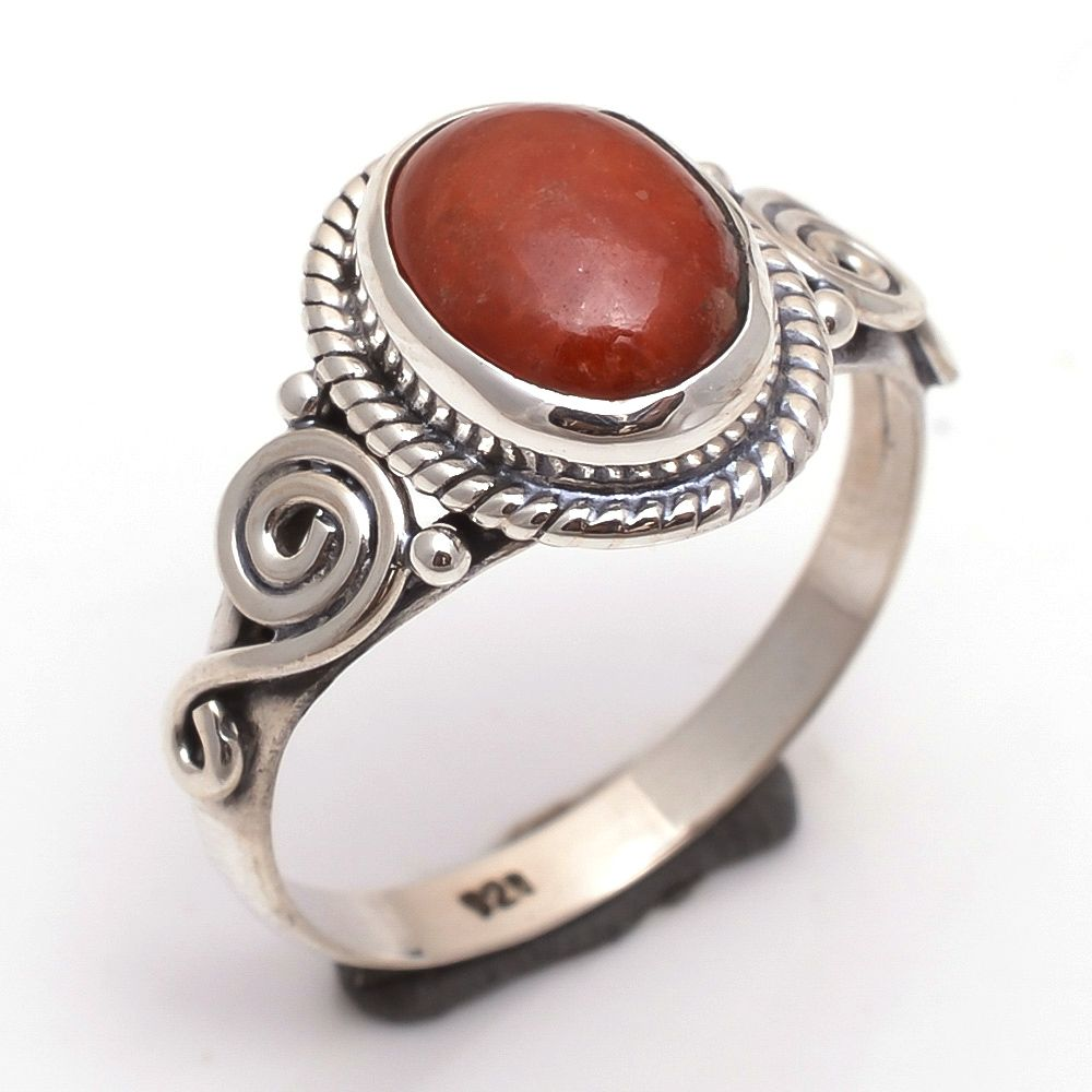 Agate Gemstone 925 Sterling Silver Ring Size 7