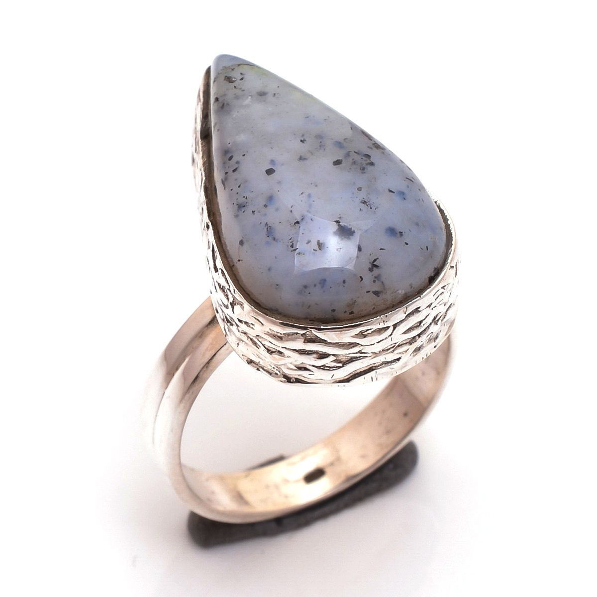 Dendrite Opal Gemstone 925 Sterling Silver Ring Size 7