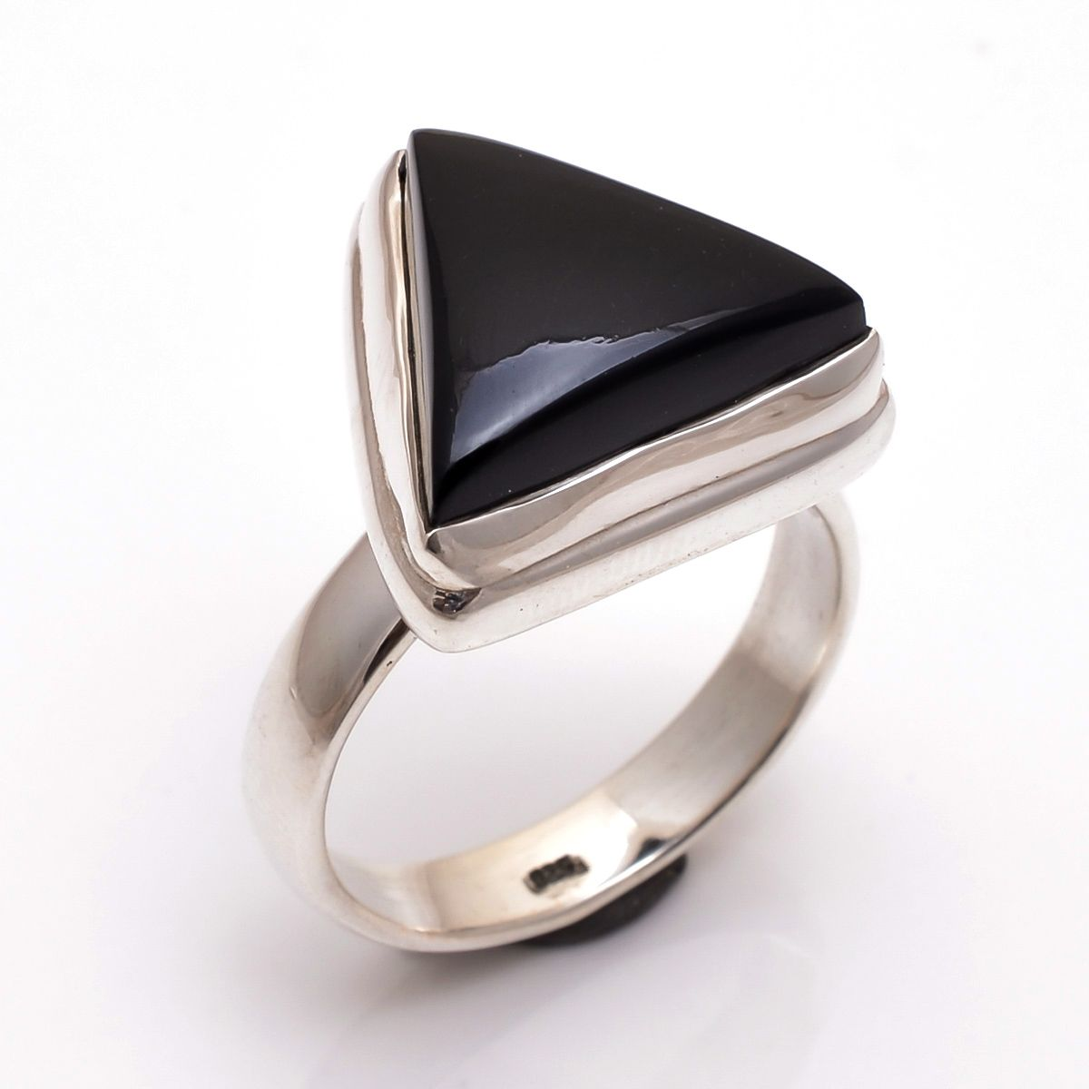 Black Onyx Gemstone 925 Sterling Silver Ring Size 10