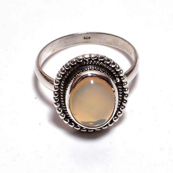 Ethiopian Opal Gemstone 925 Sterling Silver Ring Size 9