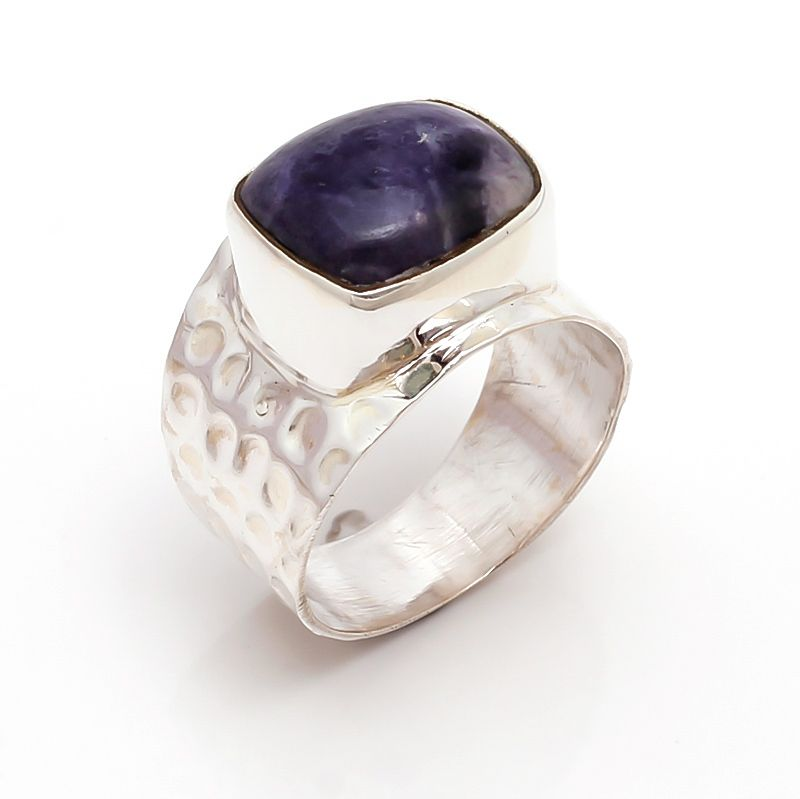 Agate Gemstone 925 Sterling Silver Ring Size 8.5