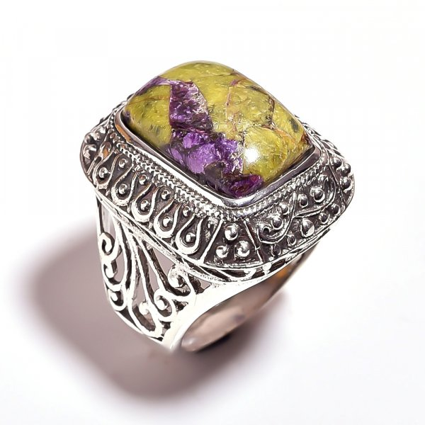 Stichtite Gemstone 925 Sterling Silver Ring Size 9