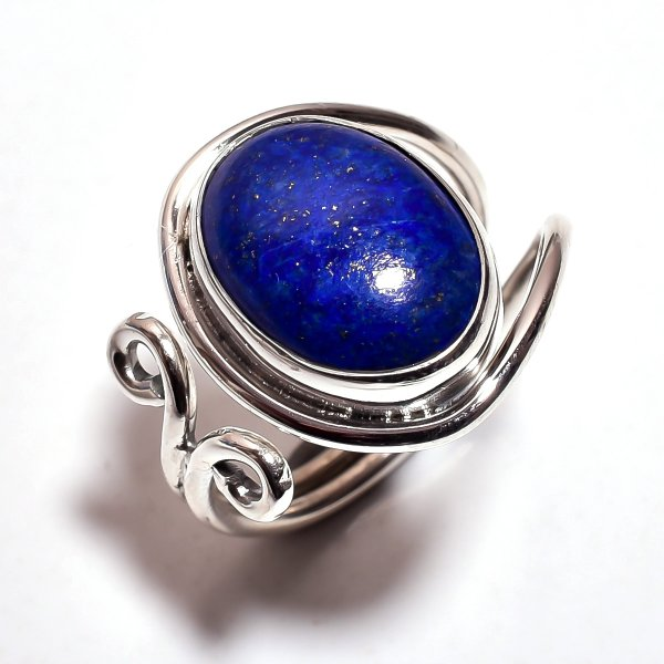 Lapis Gemstone 925 Sterling Silver Adjustable Ring