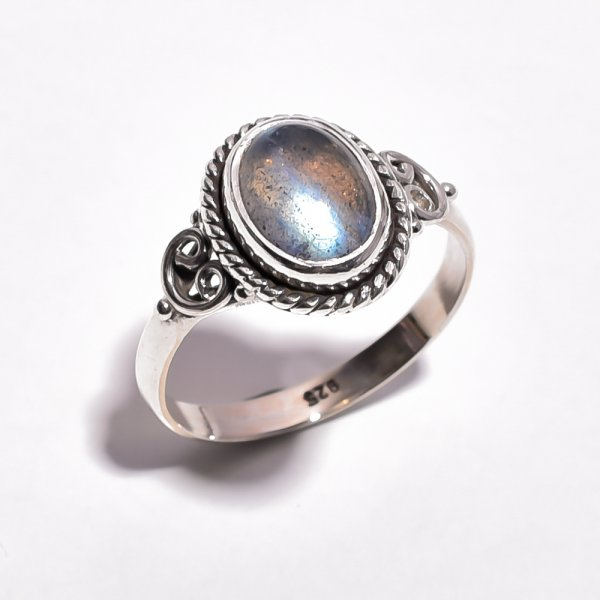 Labradorite Gemstone 925 Sterling Silver Ring