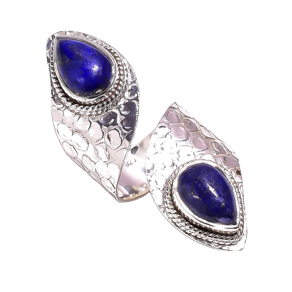 Lapis 925 Sterling Silver Ring Size US 6