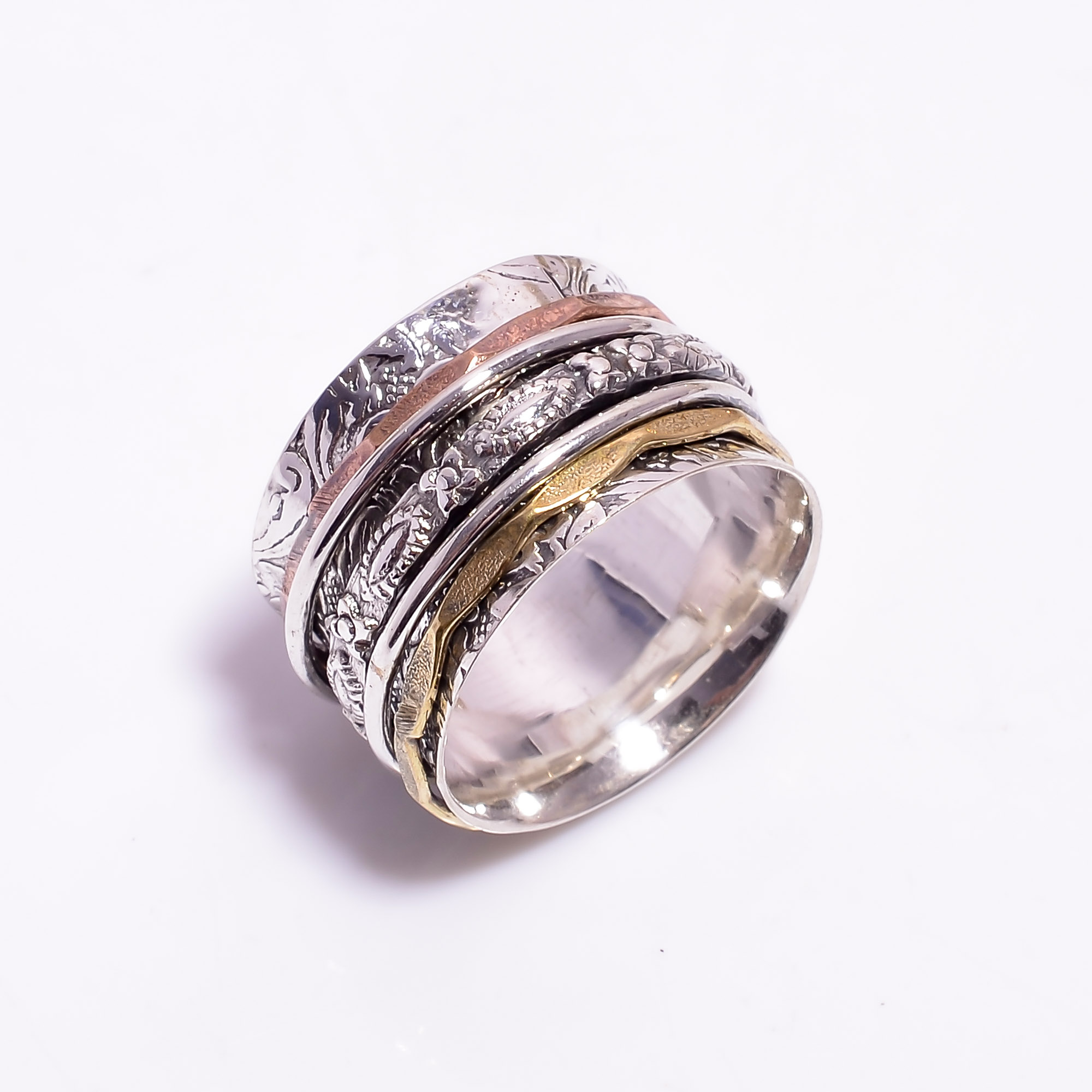 925 Sterling Silver Meditation Spinner Ring