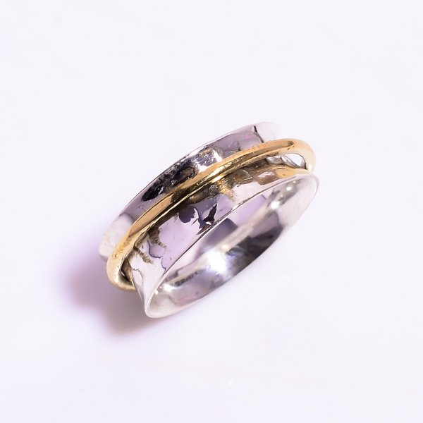 925 Sterling Silver Meditation Spinner Ring Size US 4.25