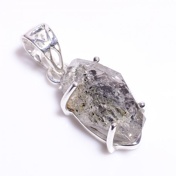 Natural Herkimer Diamond 925 Sterling Silver Pendant