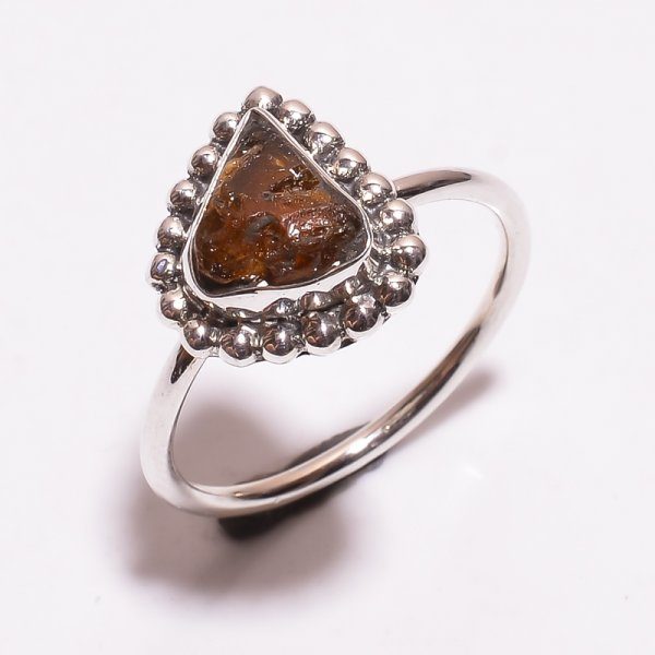 Topurmaline Raw Gemstone 925 Sterling Silver Ring Size 8.75